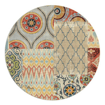 Persian Patchwork Sandstone Round Coasters by Peta Studio, Set of 8