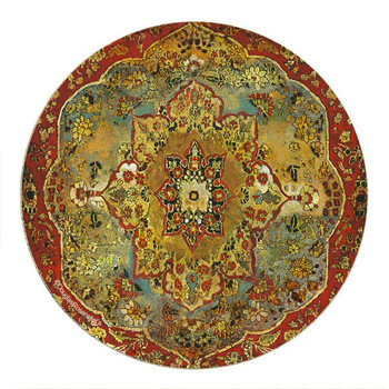 Grand Bazaar Sandstone Round Coasters by Douglas Rosenstiels, Set of 8