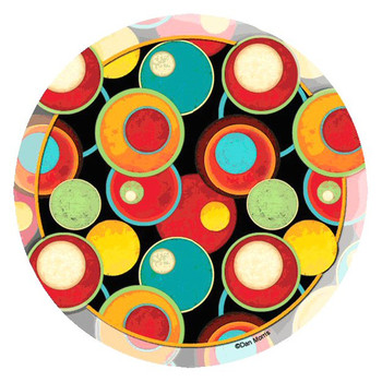 Circle Pattern Round Beverage Coasters by Dan Morris, Set of 8