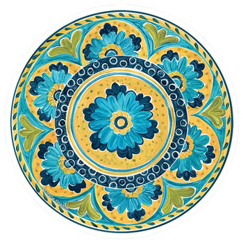 Mexican Tile Round Beverage Coasters by Joyce Shelton, Set of 8