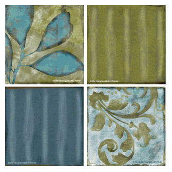 Les Fleurs de la Terre I Beverage Coasters by Color Bakery, Set of 8