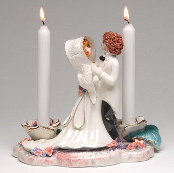Oh How They Dance Taper Candle Holder