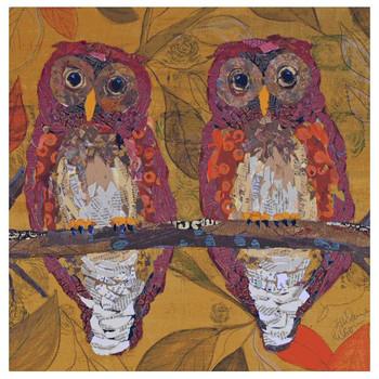 Hoo Hoo Owl Bird Coasters by Elizabeth St. Hilaire Nelson, Set of 8