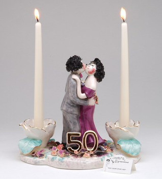 50th Anniversary Taper Candle Holder