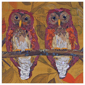 Hoo Hoo Owl Beverage Coasters by E. St. Hilaire Nelson, Set of 12