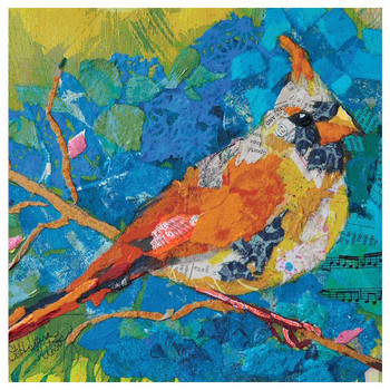 Female Cardinal Coasters by Elizabeth St. Hilaire Nelson, Set of 12