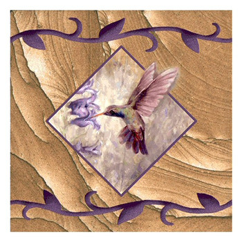 Sweet Nectar Hummingbird Sandstone Beverage Coasters, Set of 8