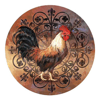 Rooster Bird Sandstone Beverage Coasters, Set of 8