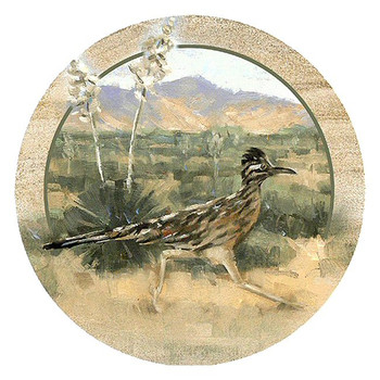 Roadrunner Bird Sandstone Beverage Coasters, Set of 8