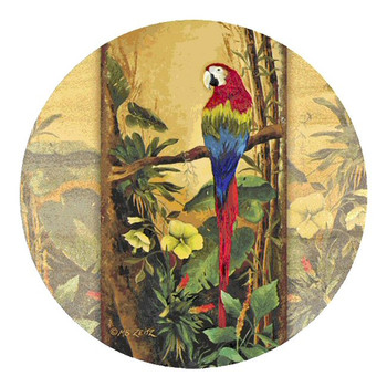 Parrot Exotic Birds II Sandstone Coasters by Mary Beth Zeitz, Set of 8