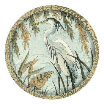 Quiet Elegance Bird Sandstone Beverage Coasters, Set of 8