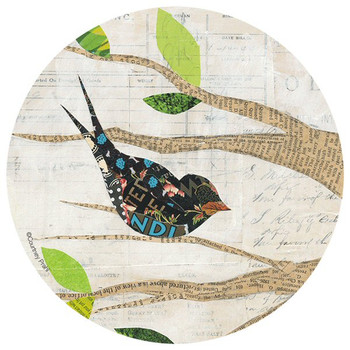 Birds in Spring Absorbent Round Coasters by Courtney Prahl, Set of 8
