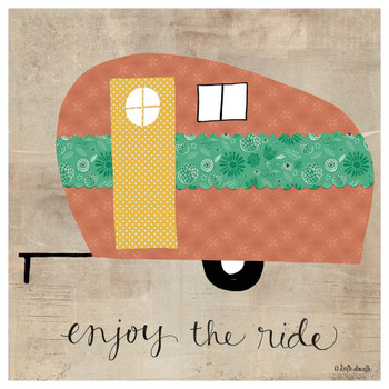 Enjoy the Ride Camper Absorbent Beverage Coasters, Set of 12
