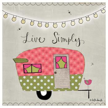 Live Simply Camper Absorbent Beverage Coasters, Set of 12