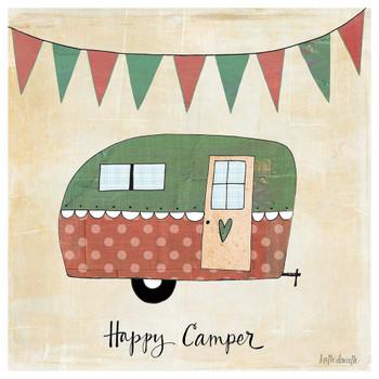 Happy Camper Absorbent Beverage Coasters, Set of 12