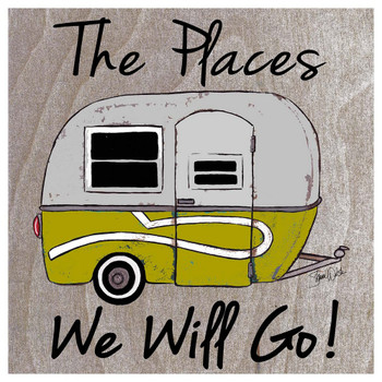 The Places We Will Go Camper Absorbent Beverage Coasters, Set of 12