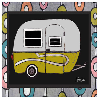 Yellow Camper Absorbent Beverage Coasters, Set of 12