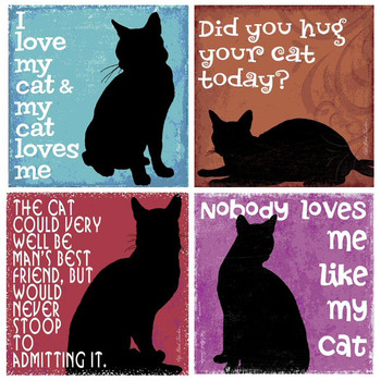 Nobody Loves Me Like My Cat Coasters by Kate Ward Thacker, Set of 8