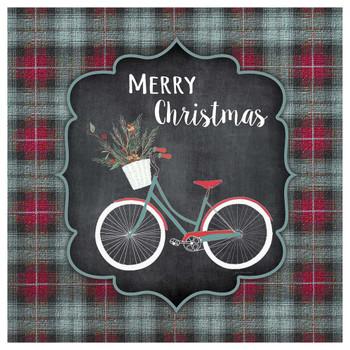 Merry Christmas Bike Absorbent Beverage Coasters, Set of 12