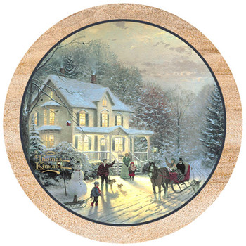 Home for the Holidays Sandstone Beverage Coasters, Set of 8