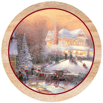 Victorian Christmas II Sandstone Beverage Coasters, Set of 8