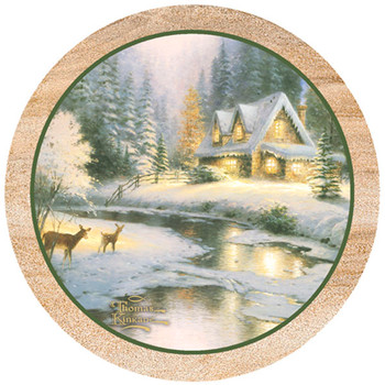 Deer Creek Cottage Sandstone Beverage Coasters, Set of 8