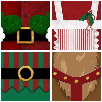Christmas Bellies Absorbent Beverage Coasters, Set of 8