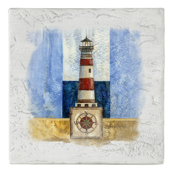 Bright Lighthouse Beverage Coasters, Set of 8