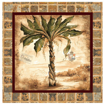 Palm II Absorbent Beverage Coasters by Tre Sorelle Studios, Set of 8