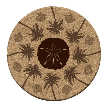 Beachside Cork Beverage Coasters, Set of 12