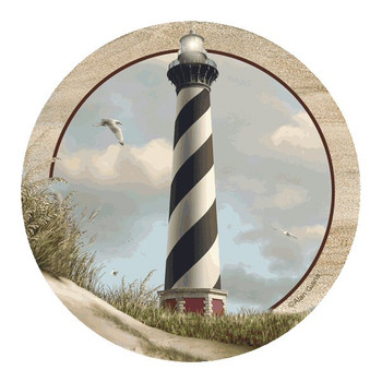 Cape Hatteras Lighthouse Sandstone Coasters by Alan Giana, Set of 8