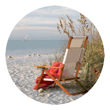 Sunshine Morning Round Beverage Coasters by Alan Giana, Set of 8