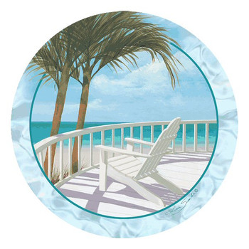 Weekend Getaway Absorbent Beverage Coasters by Lin Seslar, Set of 12