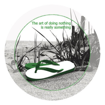 The Art of Doing Nothing Beverage Coasters by M. Magistro, Set of 12