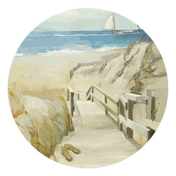 Paradise Found Beverage Coasters by Marilyn Hageman, Set of 12