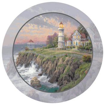 Victorian Light Lighthouse Coasters by Thomas Kinkade, Set of 8