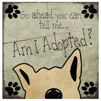 Am I Adopted? Dog Absorbent Beverage Coasters, Set of 8