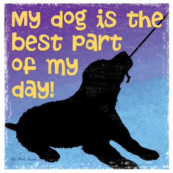 The Best Part Dog Beverage Coasters by Kate Ward Thacker, Set of 12