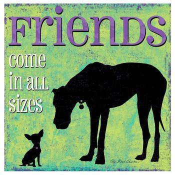 Friends Come in All Sizes Dog Coasters by Kate Ward Thacker, Set of 12