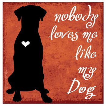 Nobody Loves Me Like My Dog Coasters by Kate Ward Thacker, Set of 12