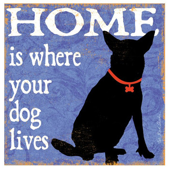 Home is Where Your Dog Lives Coasters by Kate Ward Thacker, Set of 12