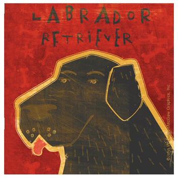 Labrador Retriever Dog Beverage Coasters by John W Golden, Set of 12