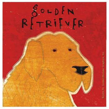 Golden Retriever Dog Beverage Coasters by John W Golden, Set of 12