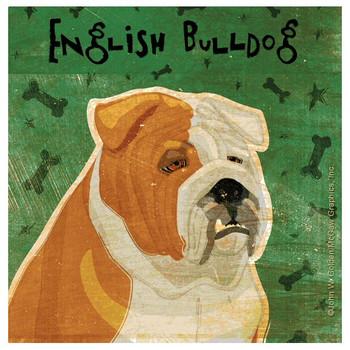 Bulldog Absorbent Beverage Coasters by John W Golden, Set of 12