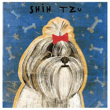 Shih Tzu Dog Absorbent Beverage Coasters by John W Golden, Set of 12