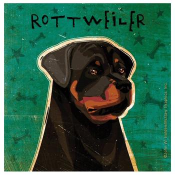 Rottweiler Dog Absorbent Beverage Coasters by John W Golden, Set of 12