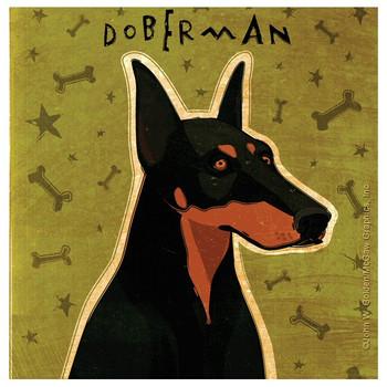 Doberman Pinscher Dog Beverage Coasters by John W Golden, Set of 12