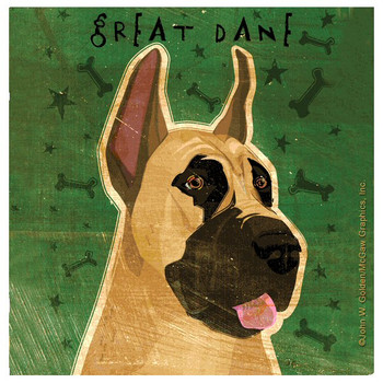 Great Dane Dog Absorbent Beverage Coasters by John W Golden, Set of 12