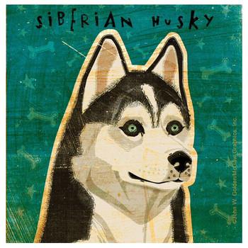 Siberian Husky Dog Beverage Coasters by John W Golden, Set of 12