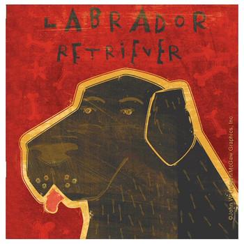 Labrador Retriever Dog Beverage Coasters by John W Golden, Set of 8